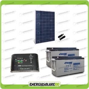 Kit Starter Plus Pannello Solare 250W 24V Batteria AGM 150Ah Regolatore di Carica 10A Epsolar