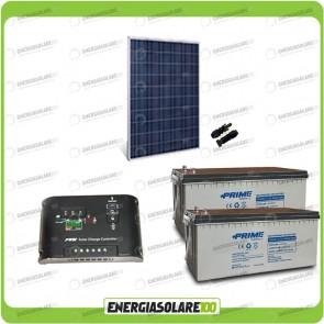 Kit Starter Plus Pannello Solare 250W 24V Batteria AGM 200Ah Regolatore di Carica 10A Epsolar