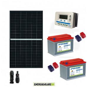 Kit fotovoltaico 24V con Pannello Solare monocristallino 375W Batterie piastra tubolare 110Ah Regolatore di carica PWM 30A VS3024AU