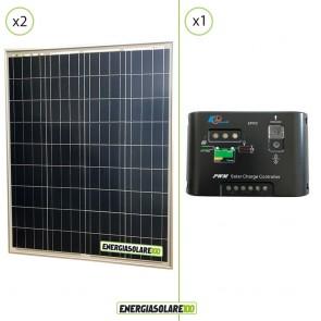 Kit Starter Solare Fotovoltaico 160W 24V  Regolatore PWM 10A 24V Epsolar EP10