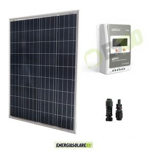 Kit Starter Pannello Solare Fotovoltaico 100W 12V Regolatore di carica 10A MPPT
