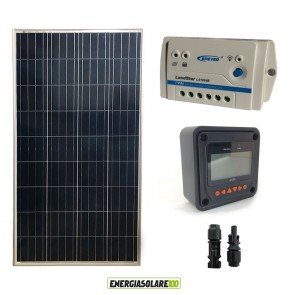 Kit Starter  EJ 150W 12V  Regolatore PWM 10A Epsolar LS con Display MT-50