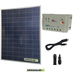 Kit solare fotovoltaico 200W 12V regolatore di carica LS2024B EpSolar con cavo USB per collegamento regolatore