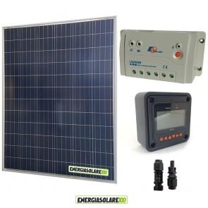 Kit solare fotovoltaico 200W 12V regolatore di carica LS2024B EpSolar con display Remoto MT-50