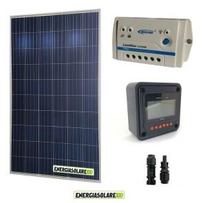 Kit fotovoltaico Pannello Solare Policristallino 280W 24V  Regolatore PWM 10A LS1024B con Display MT-50