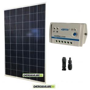 Kit Solare Fotovoltaico 270W 24V  Regolatore PWM 10A LS1024B Chalet Casa Baita