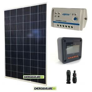 Kit Solare Fotovoltaico 270W 24V Policristallino con Regolatore PWM 10A LS1024B e Display MT-50 Epsolar