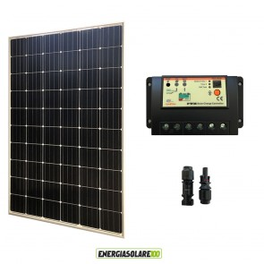 Kit Solare Fotovoltaico 300W 24V  Regolatore PWM 20A Baita Chalet