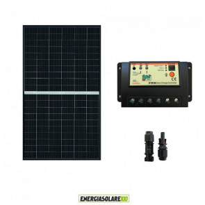 Kit Solare Fotovoltaico 375W 24V  Regolatore PWM 20A Baita Chalet