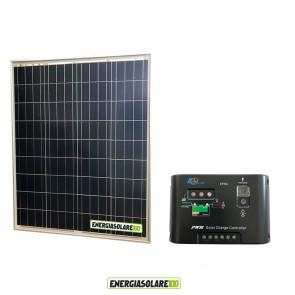 Kit Solare Fotovoltaico 80W 12V Regolatore PWM 10A Epsolar Camper Casa Nautica Illuminazione
