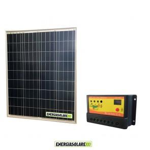 Kit Solare Fotovoltaico 80W 12V Regolatore PWM 10A Nvsolar Camper Casa Nautica Illuminazione