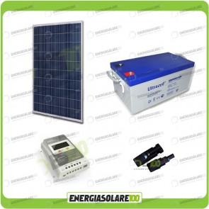 Kit Solare 270W alimentazione Video Sorveglianza 12volt per DVR e 3 Telecamera 24h al giorno
