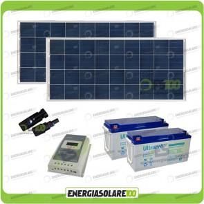 Kit Solare 300W alimentazione Video Sorveglianza 12volt per DVR e 4 Telecamera 24h al giorno