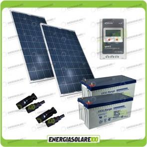 Kit Solare 400W alimentazione Video Sorveglianza 12volt per DVR e 5 Telecamera 24h al giorno