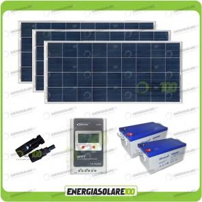 Kit Solare 450W alimentazione Video Sorveglianza 12volt per DVR e 6 Telecamera 24h al giorno