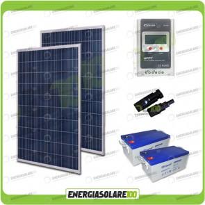 Kit Solare 540W alimentazione Video Sorveglianza 12volt per DVR e 8 Telecamera 24h al giorno
