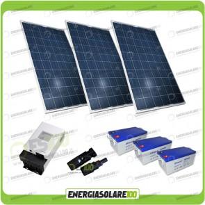 Kit Solare alimentazione Video Sorveglianza 12volt per DVR e 8 Telecamera 24h al giorno