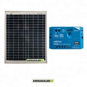 Kit pannello Fotovoltaico 20W 12V Regolatore di carica PWM 5A EPsolar impianti per Camper Casa Nautica Illuminazione
