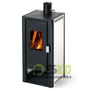 Stufa a Legna Mini Wood in Metallo BIANCO Potenza 6,6 KW