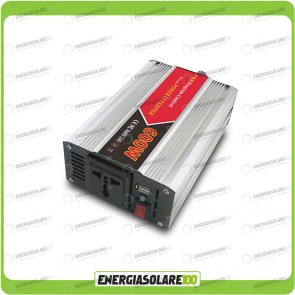 Inverter 600W 12V onda modificata camper auto barca (Inverter off-grid)