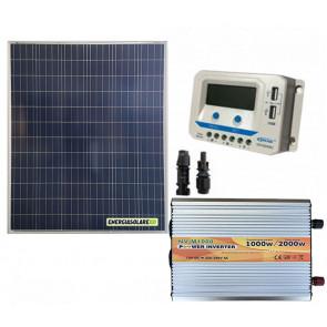 Kit Mini Baita pannello solare 200W inverter onda modificata 1000W regolatore 20 A EPsolar