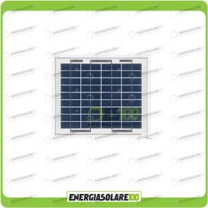 Pannello Solare Fotovoltaico 5W 6V Camper Nautica Allarme Videosorveglianza