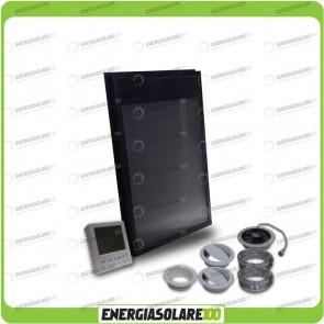 Collettore Solare ad Aria OS21D con termostato Area 50 mq Pannello solare, stufa solare, pannello solare termico