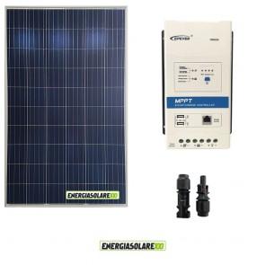 Kit Starter Pannello Solare Fotovoltaico 270W 12V + Regolatore di carica 20A MPPT