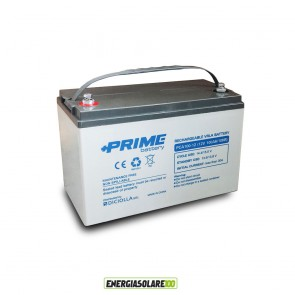 Batteria Solare AGM 100Ah 12V Deep Cycle Veicoli Elettrici Impianti fotovoltaici