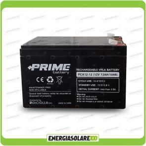 """Batteria Solare Ermetica """"Prime"""" da 12V 12Ah Deep Cycle Veicoli Elettrici Impianti Solari"""