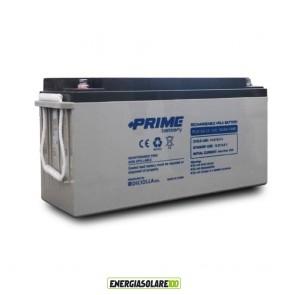"""Batteria Solare Ermetica """"Prime"""" da 12V 150Ah Deep Cycle Veicoli Elettrici Impianti Solari"""