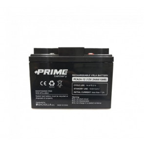 """Batteria Solare Ermetica """"Prime"""" da 12V 24Ah Deep Cycle Veicoli Elettrici Impianti Solari"""