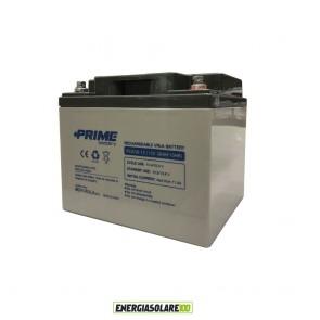 """Batteria AGM Solare Ermetica """"Prime"""" da 12V 38Ah Deep Cycle Veicoli Elettrici Impianti Solari"""