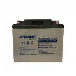"Batteria Solare Ermetica AGM ""Prime"" da 12V 38Ah Camper Nautica Impianti Solari"