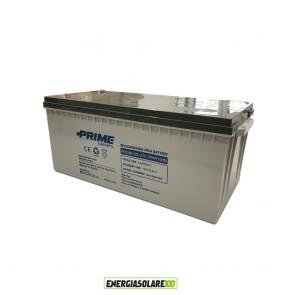 Batteria Solare Ermetica Prime da 12V 200Ah Deep Cycle AGM-GEL