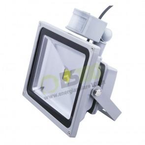 Faro LED 30W 230V con Sensore di Movimento a Luce Fredda IP65