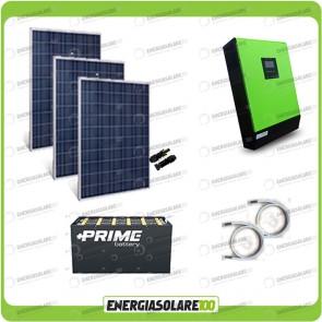 Kit solare fotovoltaico 750W Inverter onda pura Genius 5000VA 4000W 48V MPPT 80A Batterie OPzS
