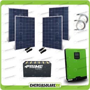 Kit solare fotovoltaico 1KW Inverter onda pura Edison50 5000VA 4000W 48V PWM 50A Batterie OPzS