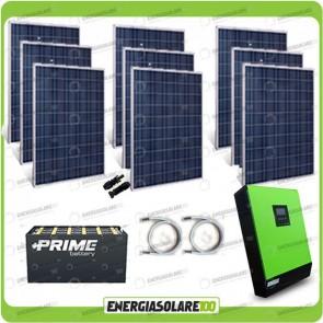 Kit solare fotovoltaico 2.4KW Inverter onda pura MPGEN50V2 5kW 48V regolatore di carica MPPT 80A Batterie OPzS