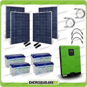 Kit solare fotovoltaico 1KW Inverter onda pura Edison50 5000VA 4000W 48V PWM 50A Batterie GEL