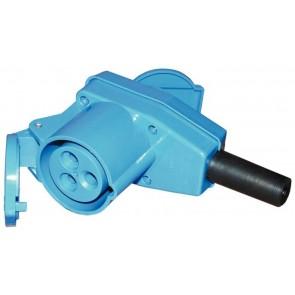 Presa blu CEE 230V 90gradi + derivazione presa schuko