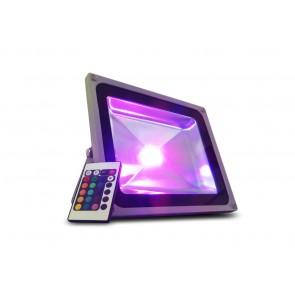 Faro LED Multicolor RGB 50W 220V con Telecomando