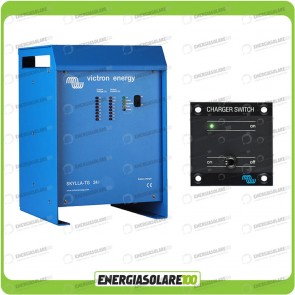 Kit Caricabatteria Skylla TG 24V 30A Victron Energy Certificato GL con interruttore remoto