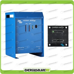 Kit Caricabatteria Skylla TG 24V 30A Victron Energy per batteria al piombo con interruttore remoto