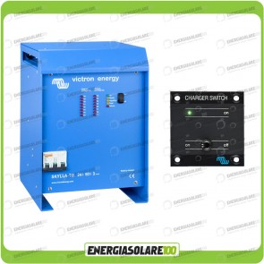Kit Caricabatteria Skylla TG 24V 50A Victron Energy Certificato GL con interruttore remoto