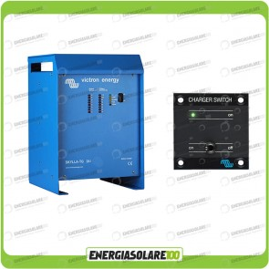 Kit Caricabatteria Skylla TG 24V 80A Victron Energy per batteria al piombo con interruttore remoto