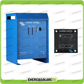 Kit Caricabatteria Skylla TG 24V 100A Victron Energy per batteria al piombo con interruttore remoto
