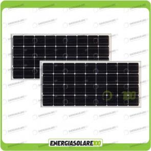 Stock 2 Pannelli Solari 100W 12V Monocristallino