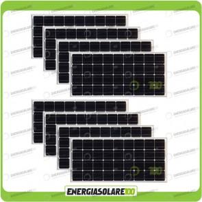 Stock 8 Pannelli Solari 100W 12V