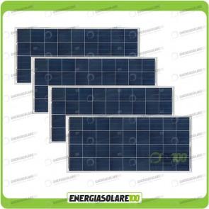 Stock 4 Pannelli Solari 150W 12V